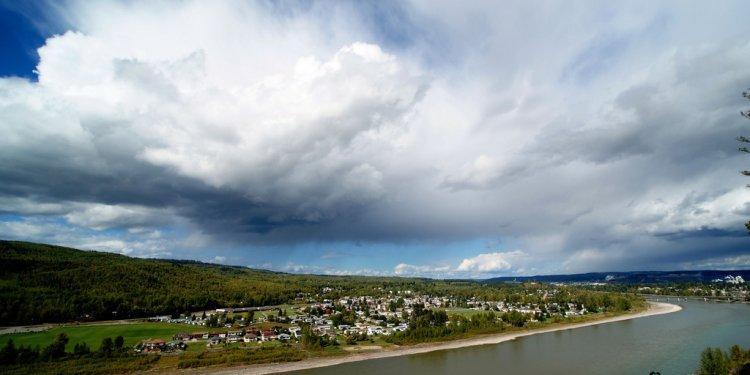 Sky canada clouds river
