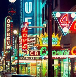 Neon familiar with rule the night time in Vancouver, specially on the famous Granville Street activity strip. At once the city had been 2nd only to Shanghai when it comes to most neon indications.